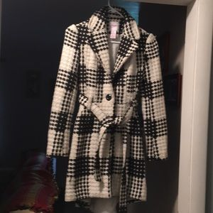 Candies black and white trench coat